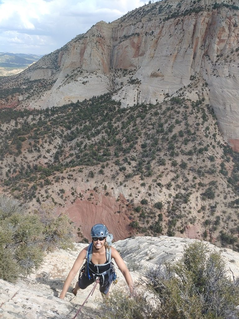 Zion rock climbing private guided adventure