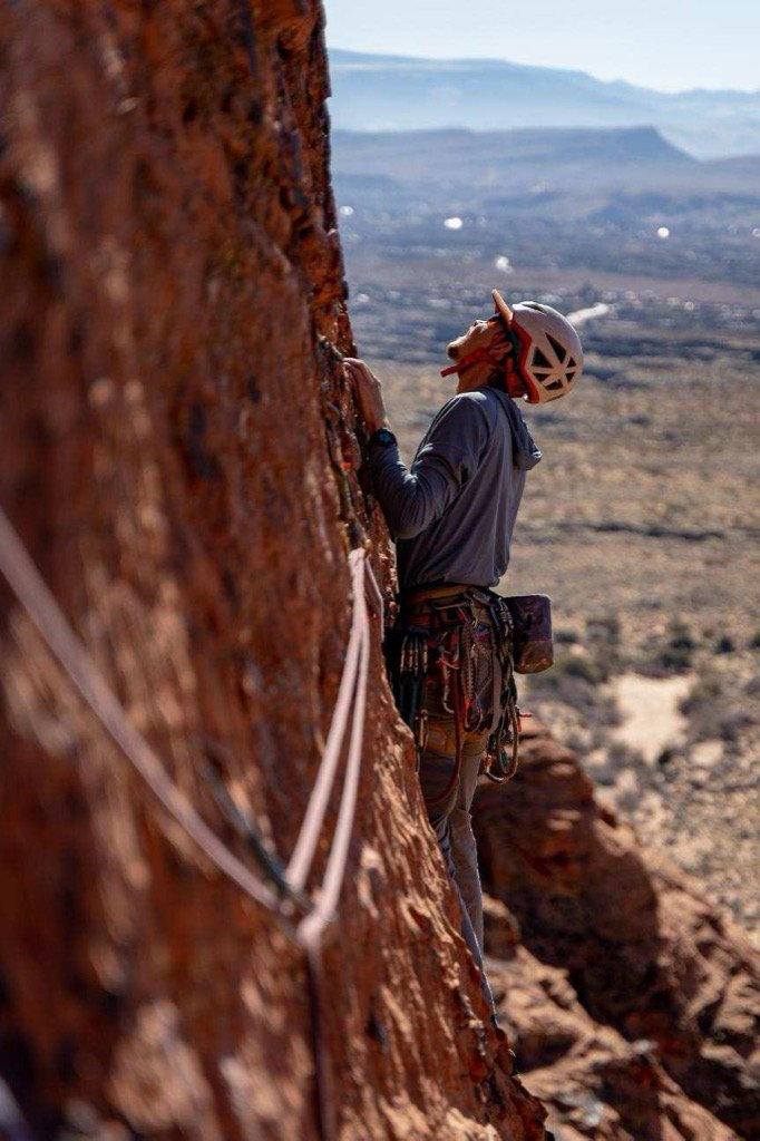 Rock climbing in Zion and Southern Utah